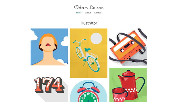 Portfolio en cv website templates – Illustratorportfolio