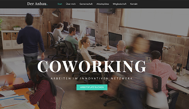 Alle website templates – Co-Working-Bereich