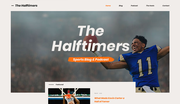 Sport & fitness hjemmesideskabeloner – Sports Blog & Podcast