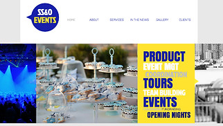 Events website templates - Event Planning Company