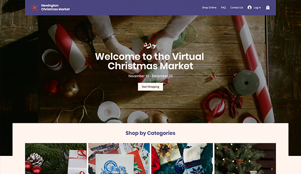 Webshop website templates – Online Christmas Market