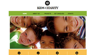 Non-Profit website templates - Kids Charity