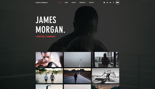 TV&映画 website templates – 映画監督