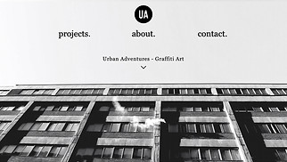 Portfolios website templates - Graffiti Artist
