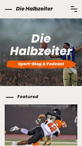 Lifestyle website templates – Sport-Blog & Podcast