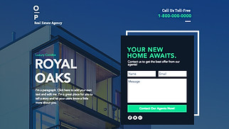 Landing Pages website templates - Real Estate Landing Page