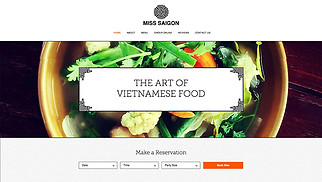 Restaurants & Food website templates - Vietnamese Restaurant