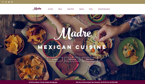 Templates de site web pour Restaurants - Restaurant Mexicain