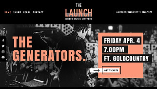 Music Industry website templates - Music Venue