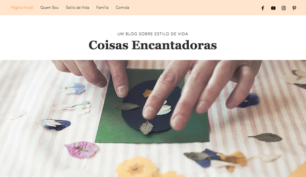 Blog website templates – Blog de estilo de vida para mães