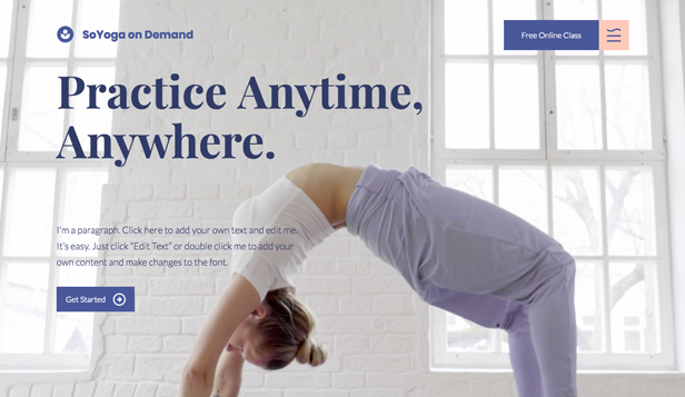 Istruzione online template – Yoga on Demand