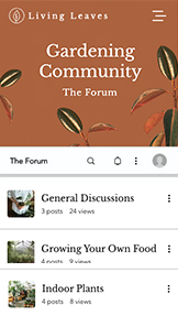 Komunity website templates – Gardening Forum