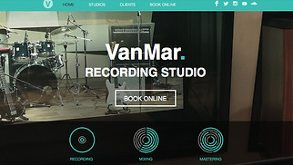 Music Industry website templates - Music Studio