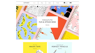 Arts & Crafts website templates - Stationery Online Store