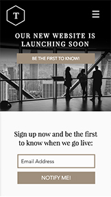Landing Page template – Business coming soon