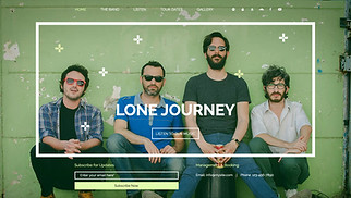 Music website templates - The Band