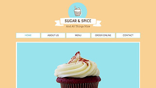 Cafe & Bakery website templates - Cupcake Shop