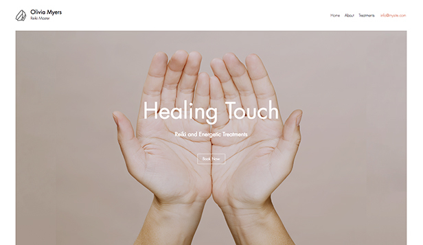 Wellness website templates – Reiki léčitel