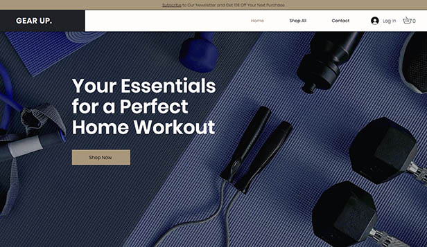 Sport en fitness website templates – Sportuitrusting