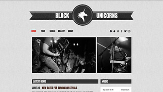 Music website templates - Bands and Musicians