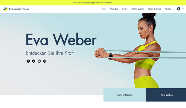 Gesundheit & Wellness website templates – Fitness-Trainer