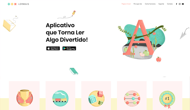 Tecnologia e Aplicativos website templates – Aplicativo Infantil