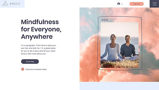 Health & Wellness website templates - Online Meditation Classes