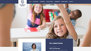 Education website templates - Elementary School