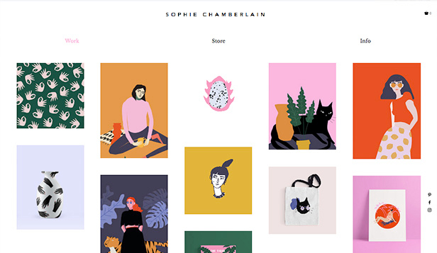Portfolio website templates – Grafische Illustrator