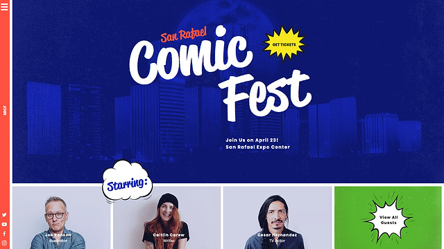 Creative Arts website templates - Comic Convention
