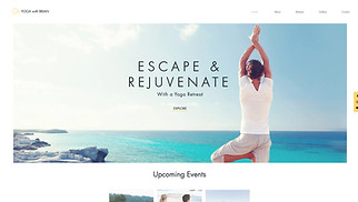Events website templates - Retreat