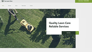 Farming & Gardening website templates - Lawn Care