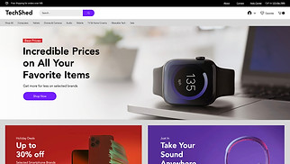 Online Store website templates - Electronics Store