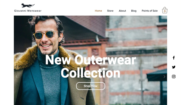 Mode en kleding website templates – Herenmode