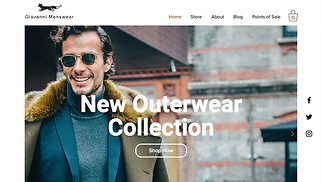 Online Store website templates - Men's Clothing Store