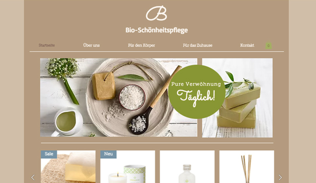 Gesundheit & Wellness website templates –  Bio-Pflegeprodukte