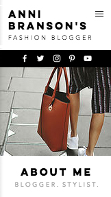 Mote og stil website templates – Street fashion-blogg
