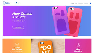 Electronics website templates - Mobile Accessories Store