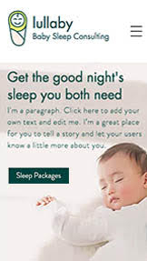 健康&フィットネス website templates – Baby Sleep Consultant