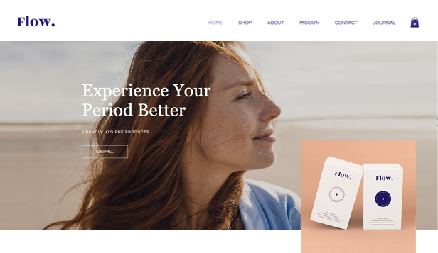Gesundheit & Wellness website templates – Damenhygieneprodukte