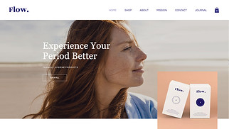 Beauty & Wellness website templates - Feminine Hygiene Products
