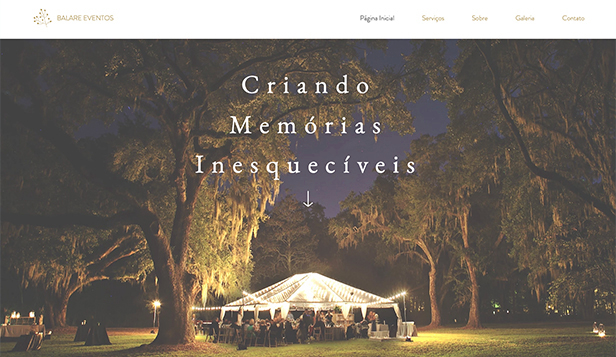 Eventos website templates – Organizador de Eventos