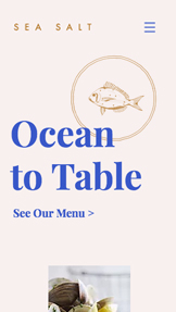 Restaurants website templates – Restaurant de poissons et fruits de mer