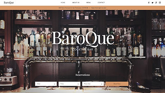 Restaurants & Food website templates - Cocktail Bar