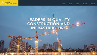 Most Popular website templates - Construction Company