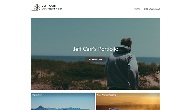 Portfolio template – Video maker