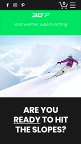 Spor ve Eğlence website templates – Online Ski Shop