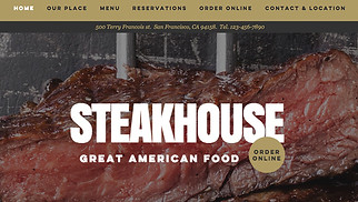 Restaurants & Food website templates - Steakhouse