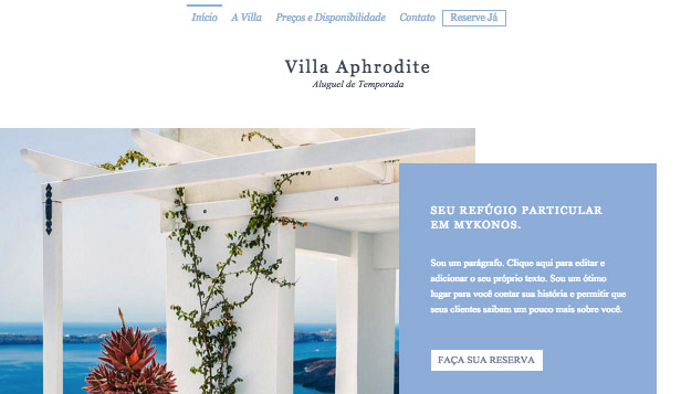 Apartamentos e Albergues website templates – Aluguel de Temporada
