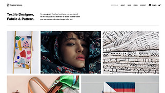 Arts & Crafts website templates - Textile Designer